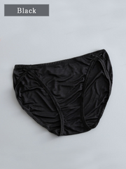 Mid Wasit Silk Panty With Bow-tie 5 Pack、Real Silk Life