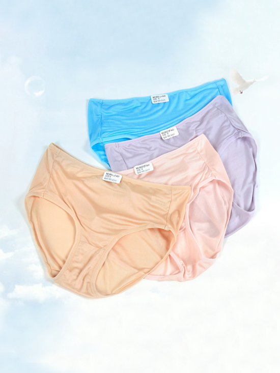 Classic Loose Silk Panty 4 Pack、Real Silk Life