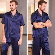 19 Momme Silk Pajamas Set for Men | Multi-Colors、Real Silk Life