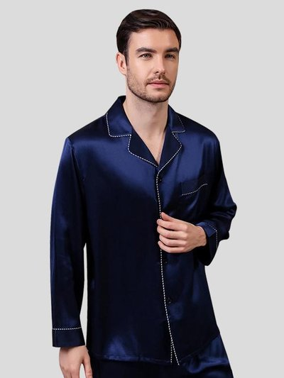 22 Momme High Quality Basic Silk Pajamas Set for Men、Real Silk Life
