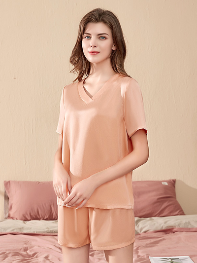 Summer Short Silk Pajamas Set | Multi-Colors Selected、Real Silk Life