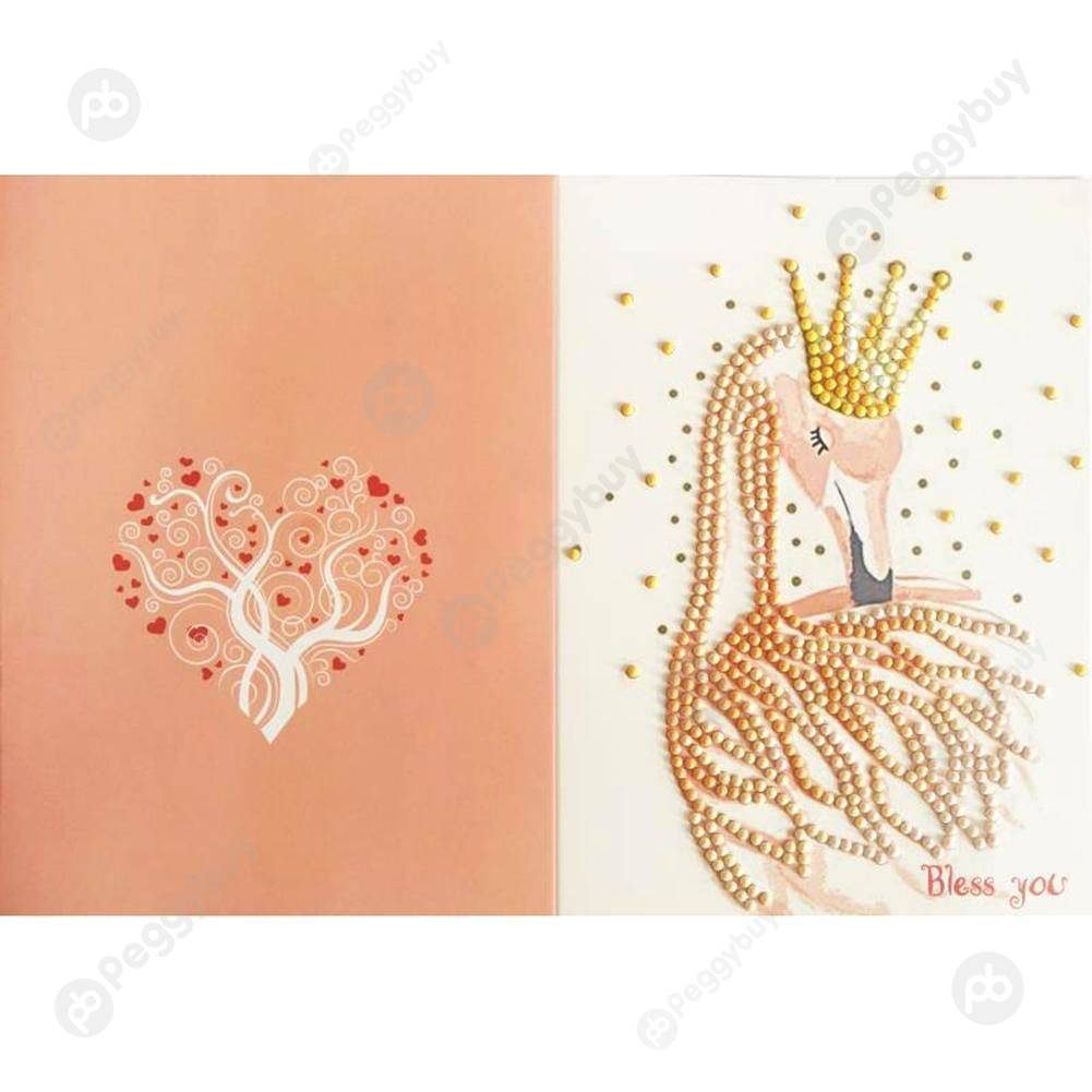 Peggybuy coupon: Crown Deer Wedding-Creative Diamond Greeting Card