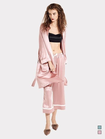 22 Momme Silk Robe Pajamas Set、REAL SILK LIFE US