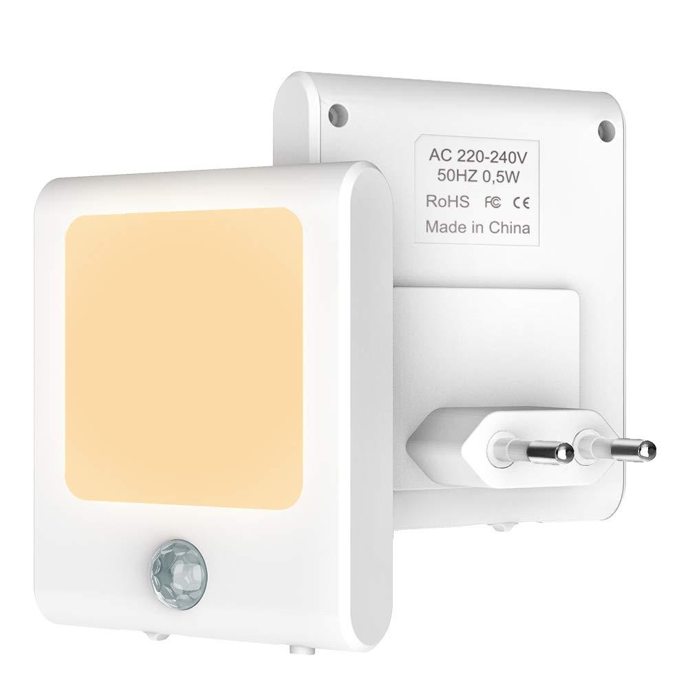 Babyliya Steckdose LED Nachtlicht mit Dämmerungssensor