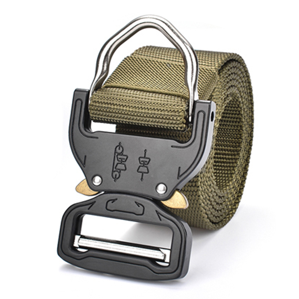 Molle Outdoor Belt Casual Rescue Belt Quick Release Waistband (Army Green), 501 Original