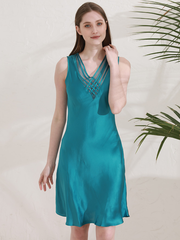19 Momme Elegant Lace Silk Nightgown | Multi-Colors Selected、Real Silk Life