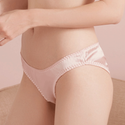 Classic Silk Panties with Floral Hemming (Multi-Color Selected)、Real Silk Life