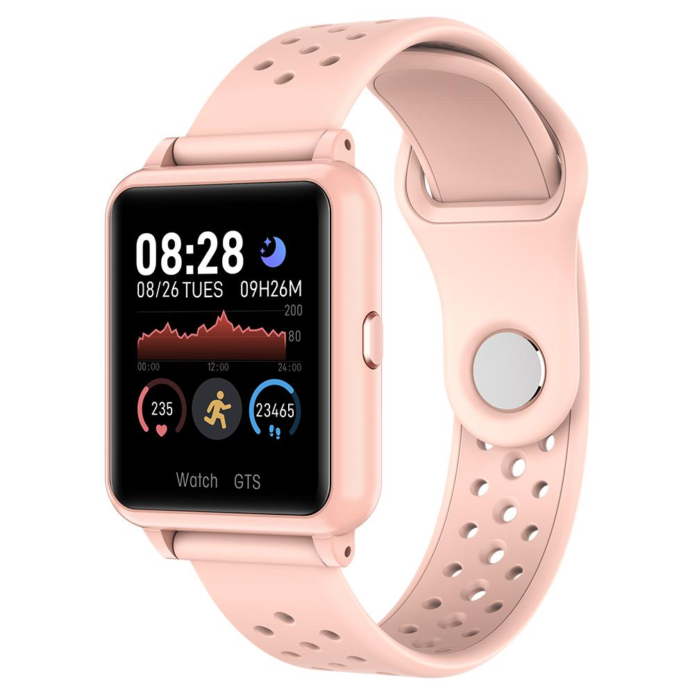 P8 1.3inch Full Touch Smartwatch Heart Rate Blood Pressure Bracelet -Pink, 501 Original