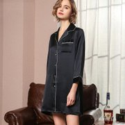 22 Momme High Quality Women's Classic Silk Sleep Shirt、Real Silk Life