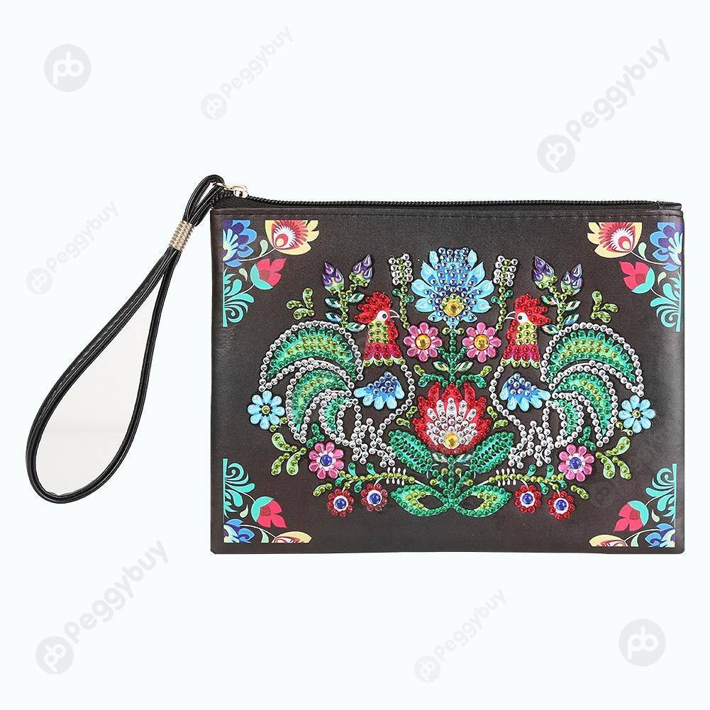 Peggybuy coupon: Rooster-DIY Creative Diamond Wristlet Bag