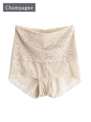 Pretty High-waisted Silk Panty With Lace Trim 3 Pack、Real Silk Life