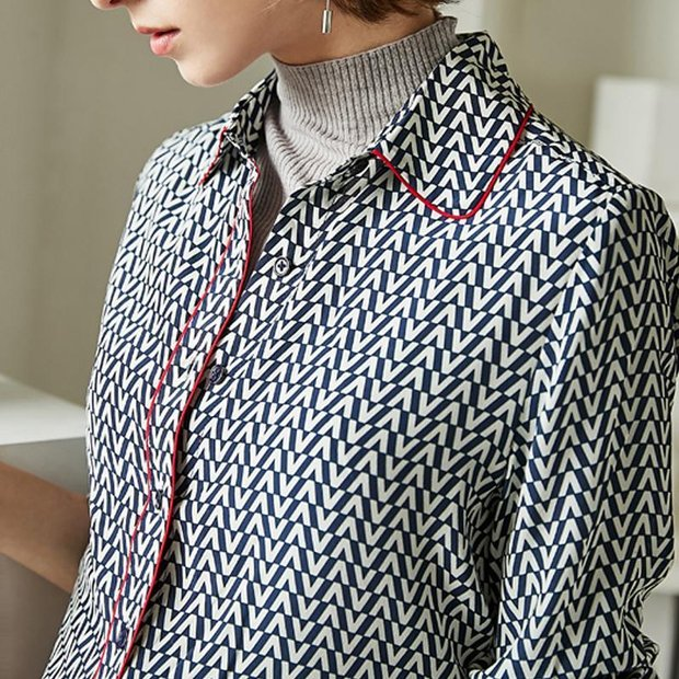Women Luxurious French Design Silk Blouse、Real Silk Life
