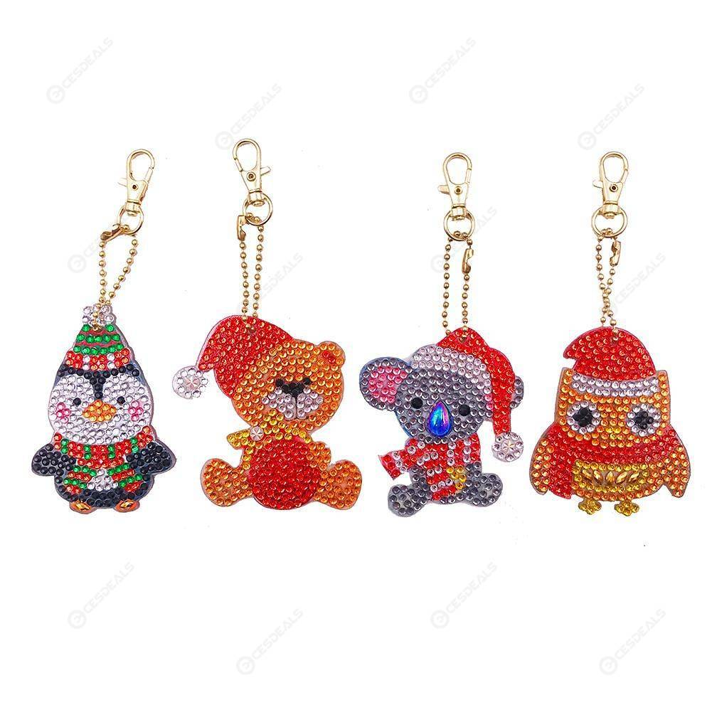 Peggybuy coupon: 4pcs Cute Animal-DIY Creative Diamond Keychain