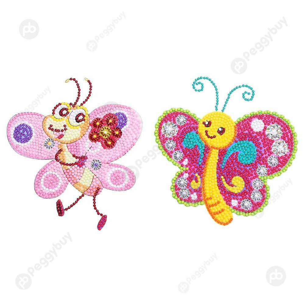 Peggybuy coupon: 2pcs Cute Bees-DIY Creative Diamond Sticker