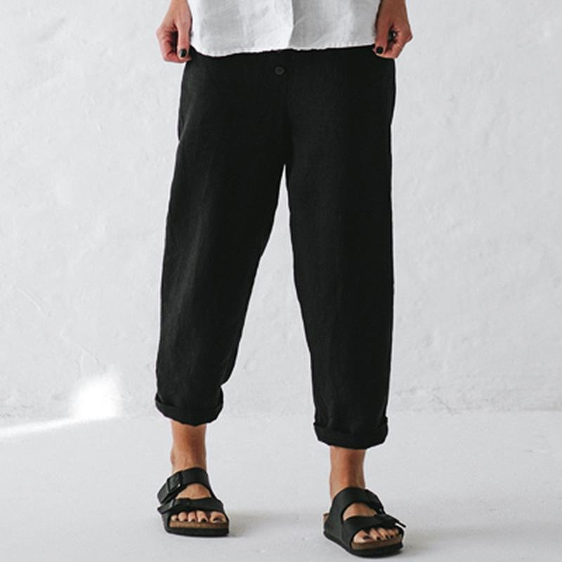 Casual solid color trousers - toplula
