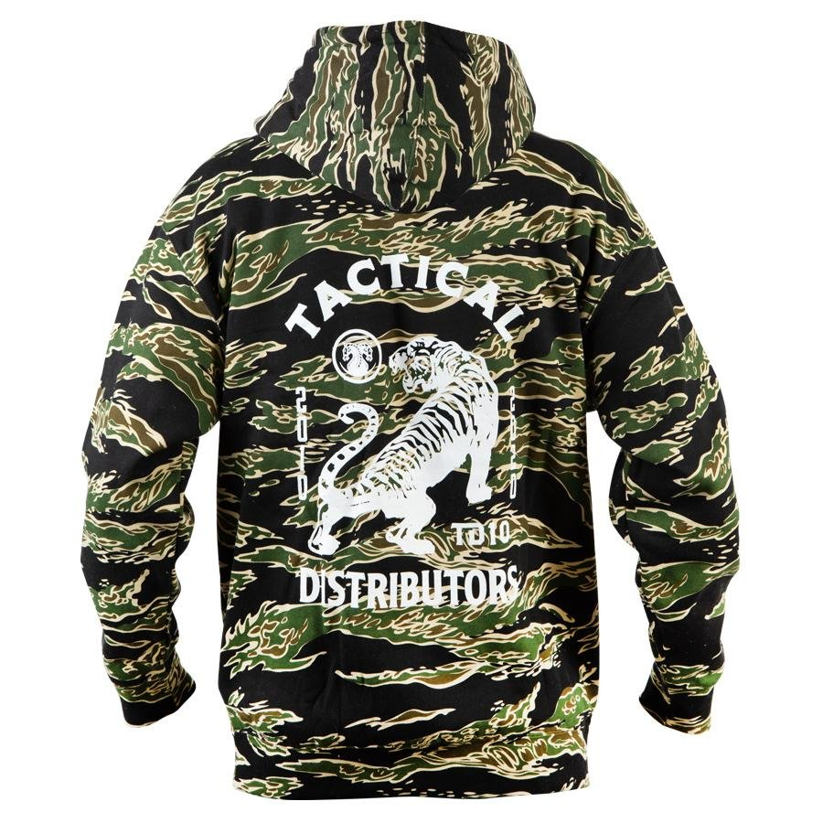 Mens Outdoor Camouflage Print Hooded Tactical Top / [viawink] /