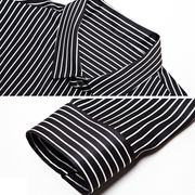 Striped Long Sleeves Silk Shirt For Mens、Real Silk Life