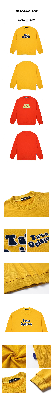 taka original 20aw logo unisex cotton long sleeves crewneck sweatshirt for women and men