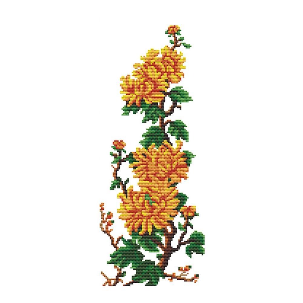 Chrysanthemum - 11CT Stamped Cross Stitch - 55*30CM