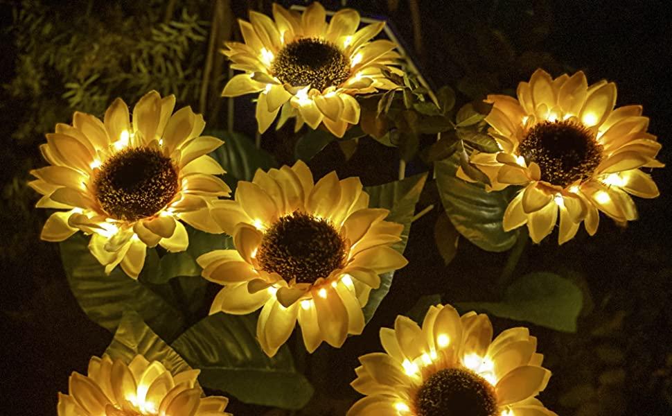 Gift Idea, Solar Sunflower, Landscape Lighting, Garden Lights, Pathway lights, gifts for women