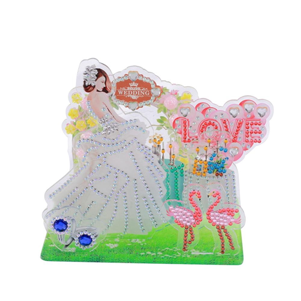 Peggybuy coupon: Princess Flamingo- 5D DIY Craft-Sticker