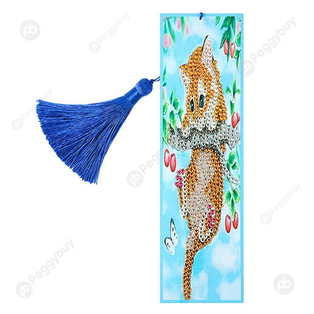 Peggybuy coupon: Climbing Cat-DIY Creative Diamond Bookmark
