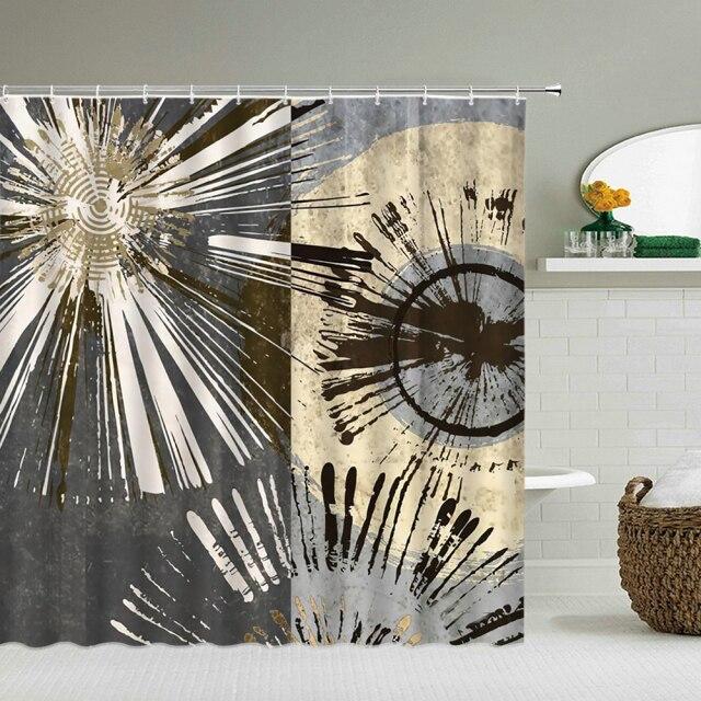 Shower Curtain – Modern Black White-180*180cm, 501 Original, Cesdeals  - buy with discount