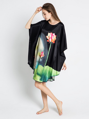 19 Momme Bud Under Spotlight Loose Silk Nightgown、Real Silk Life