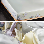 19 Momme Gardenia Cream Single Side Mulberry Silk Fitted Sheet& Pillowcase Set、Real Silk Life