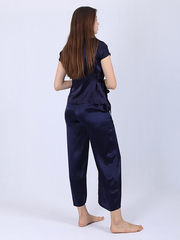 22 Momme Women's Silk Pajamas With Flexible Belt、Real Silk Life