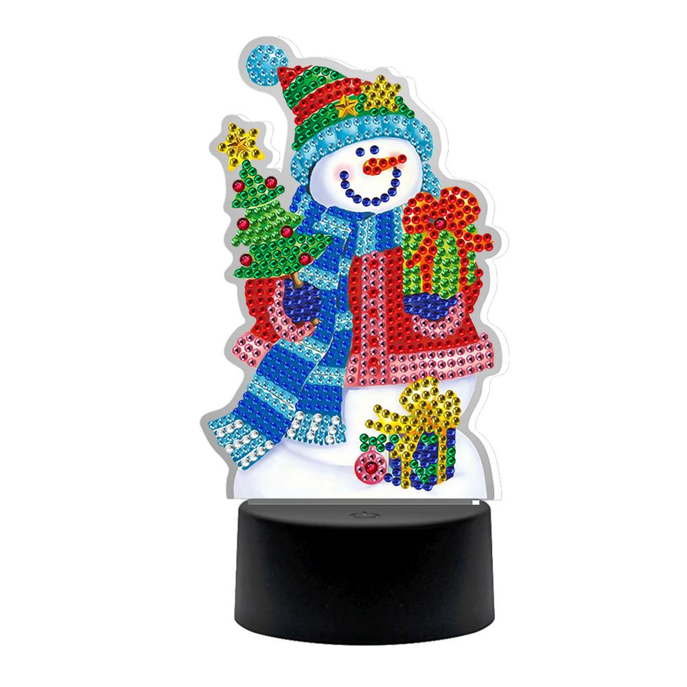 Peggybuy coupon: Snowman Night Lights-5D DIY Craft Lamp
