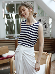 Zebra Strip Silk Tank、Real Silk Life