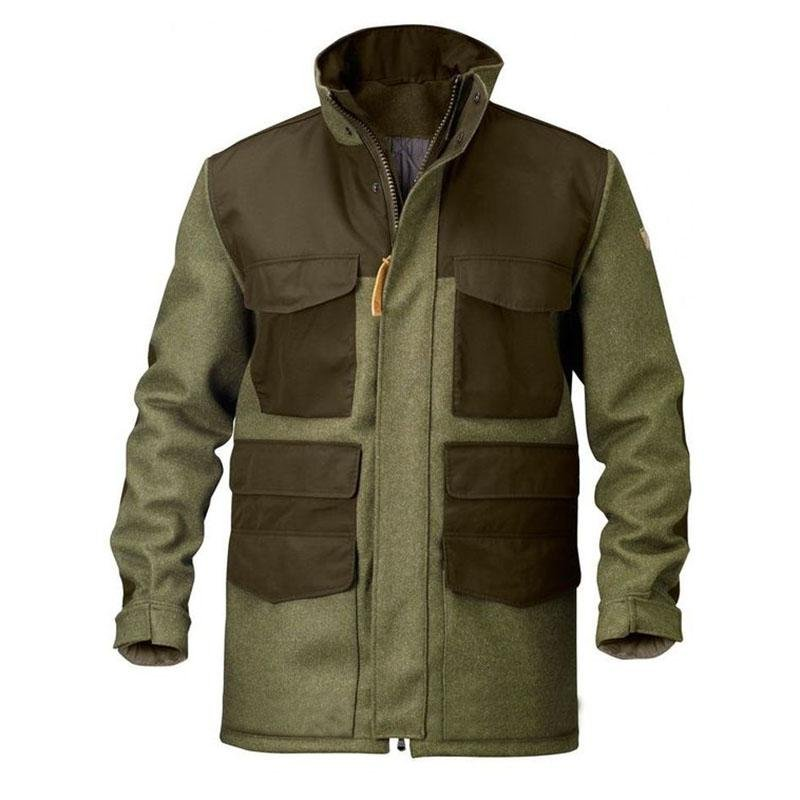 Loden army green outdoor contrast jacket jacket men / [viawink] /
