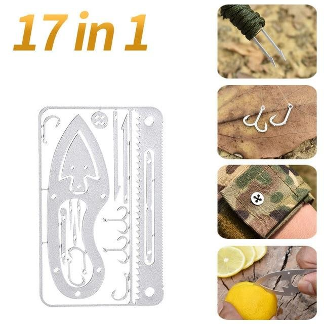 Multifunction Camping Survival Tool Fishing Hook Card Hunting New